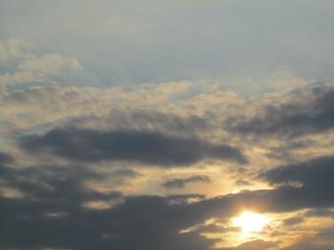 soleil,ciel,nuages
