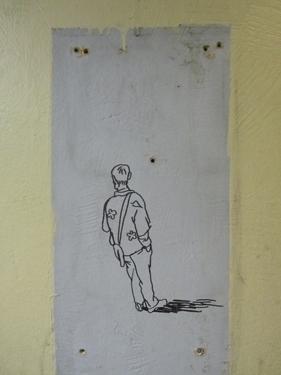 dessin,mur,station,voyageurs,personnages,illustration,street art,streetart