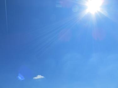 ciel,ciel bleu,soleil
