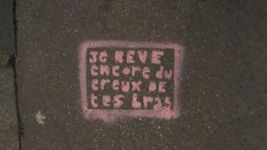 graff,graffiti,pochoir,stencil,rue,trottoir,amour,harcèlement