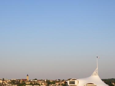 ciel bleu,soir