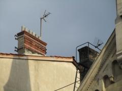 toit,antenne,cheminée,ville