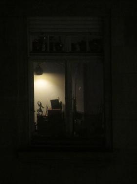 nuit,maison,fenêtre,ville,urbain