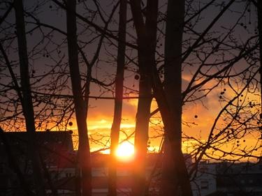 ciel,nuages,coucher de soleil