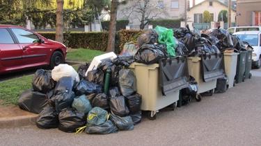 ordures,grève,amoncellement,tas,ville,urbain