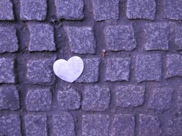 sol,cœur,pavé,urbain
