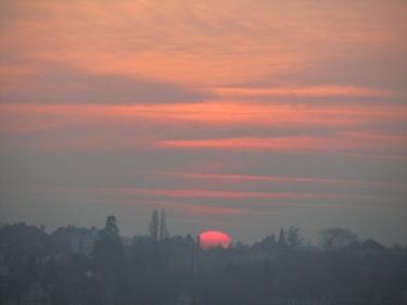ciel,nuages,soleil,aube,lever de soleil