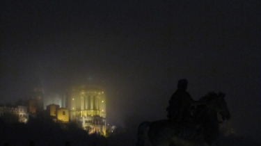 Lyon,fourvière,nuit,crachin,lumière,pluie,brume