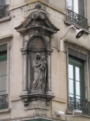 ville,urbain,rue,vierge,statue,angle,protection