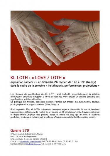 kl loth,exposition,art contemporain,art et langage