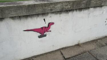 animal,préhistoire,campus, La Doua,streetart,street art,pochoir,stencil,graff,graffiti