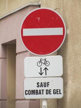 gel,panneau de signalisation,Luxembourg,traduction