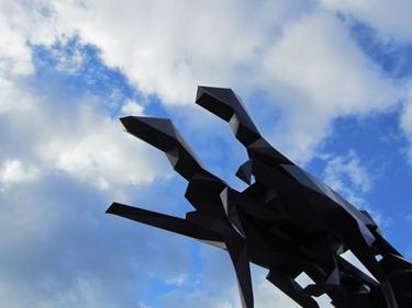 carrose,veilhan,scultpure,art contemporain,art public,grande roue
