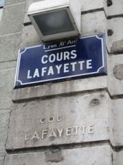cours Lafayette,plaque,inscription,rue,ville